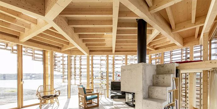 Casa Ecológica y Sostenible · Entramado Ligero